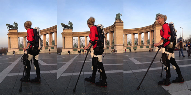 Paralyzed woman walking again with the help of.. 3D printed exoskeleton!