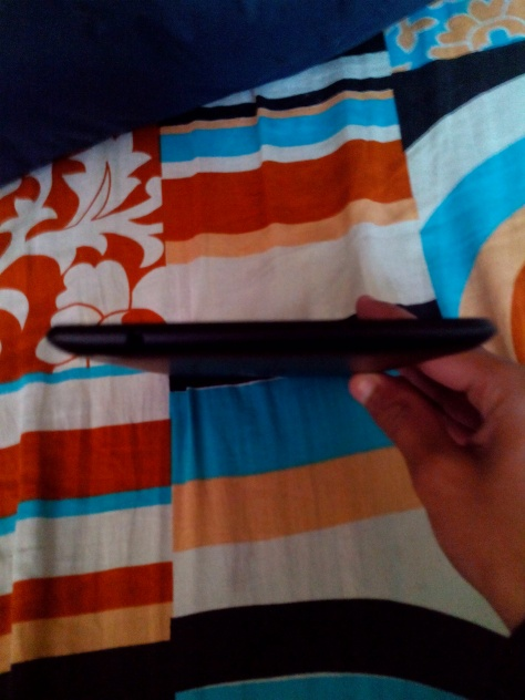 The side it is really slim