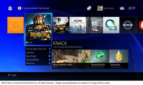 The PS4 UI