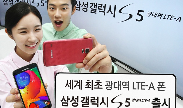 Samsung launches a variant of the Galaxy S5 with a Quad-HD screen, LTE-A and a Snapdragon 805 Processor, but only in Korea