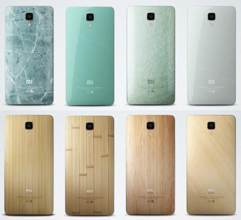 Xiaomi Mi 4 Backplates Images