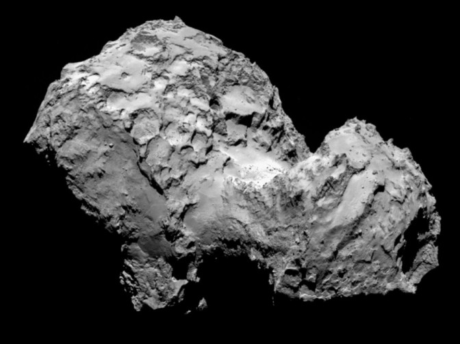 Comet 67P from Rosetta Probe Images