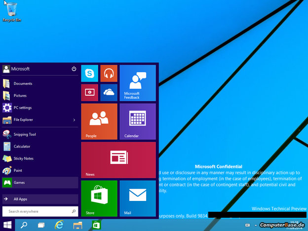 Screenshots of Windows 9 leaks: Yes, the Start Menu is Back
