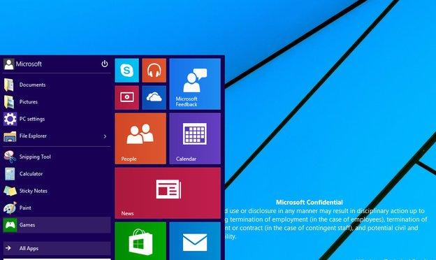 Screenshots of Windows 9 leaks: Yes, the Start Menu is Back